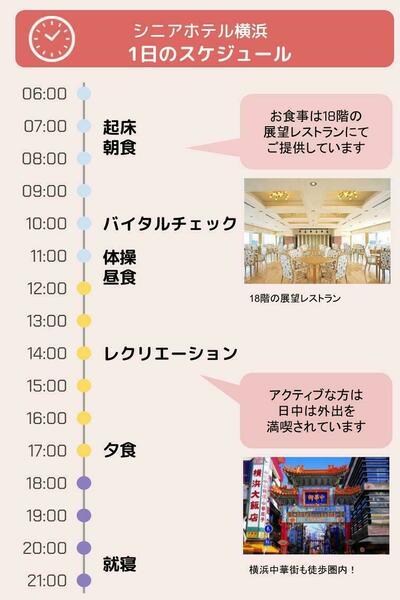 シニアホテル横浜の1日