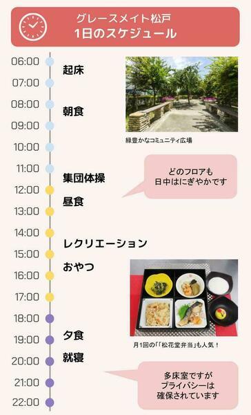 グレースメイト松戸の1日のスケジュール