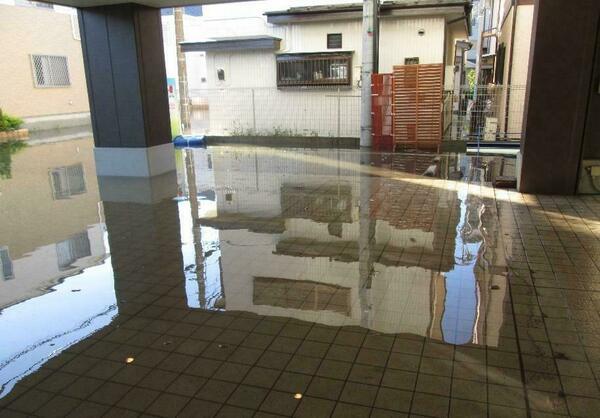 台風19号で浸水した浦和さくら翔裕館